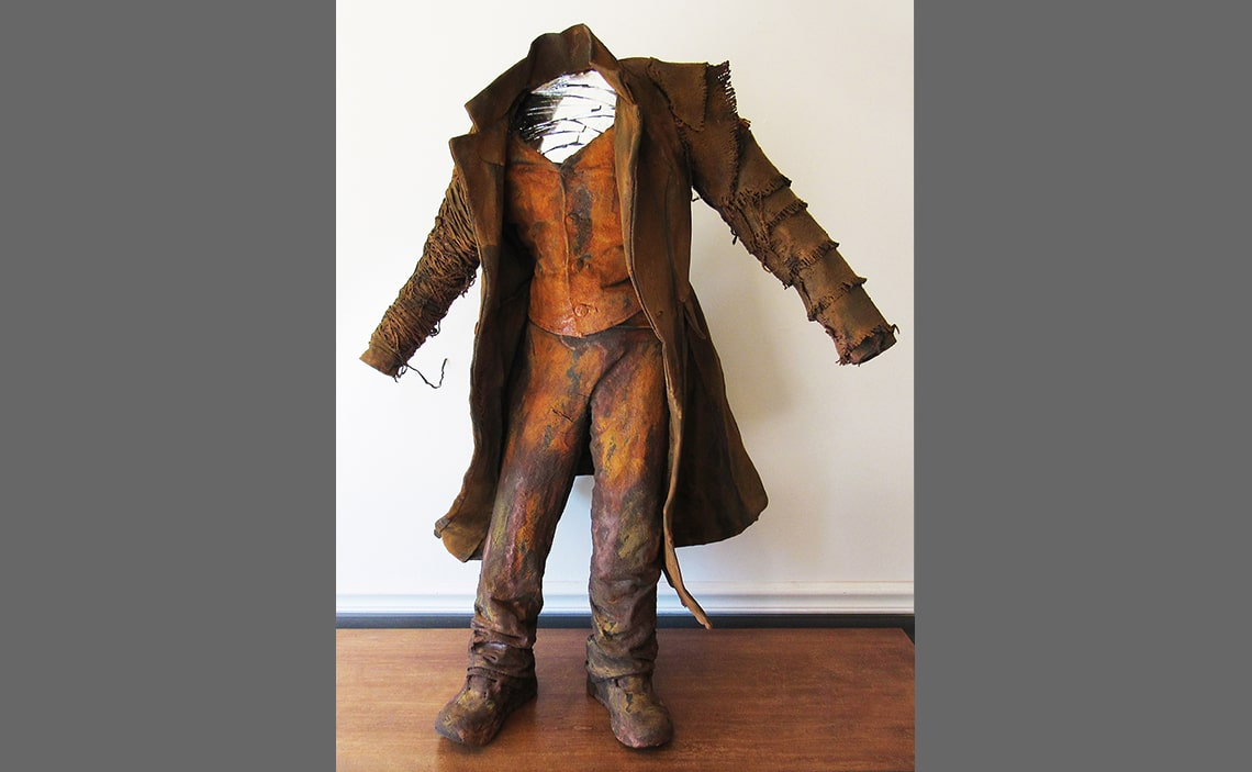 Long Dusty Coat sculpture